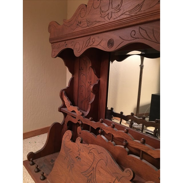Antique Pump Organ Top With Mirror - Image 4 of 4