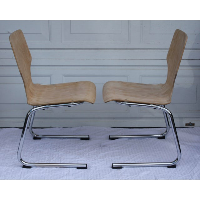 1960s West German Pagwood Chairs- Set of 4 - Image 4 of 6