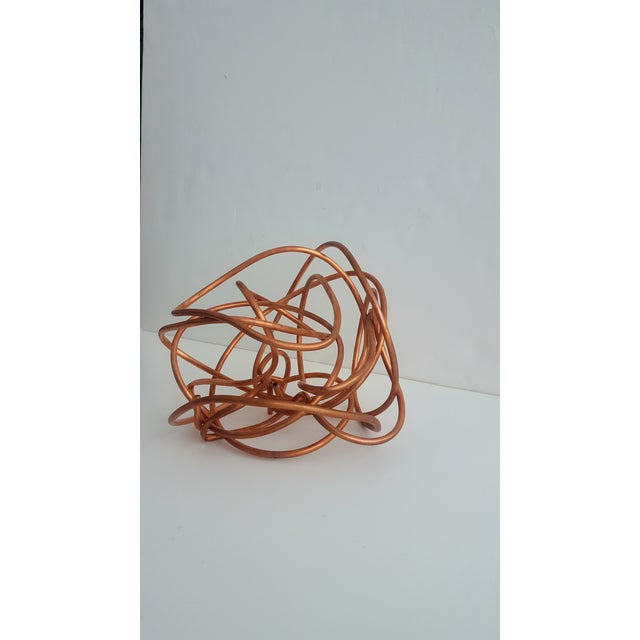 """Original Copper Coil """"Chaos"""" Twisted Knot Sculpture - Image 9 of 11"""