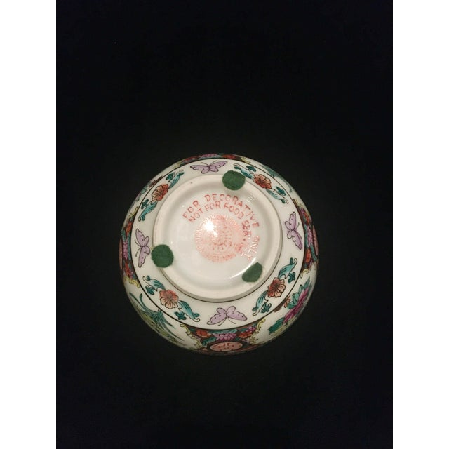 Ceramic Hand Painted Chinoiserie Bowl For Sale - Image 7 of 9