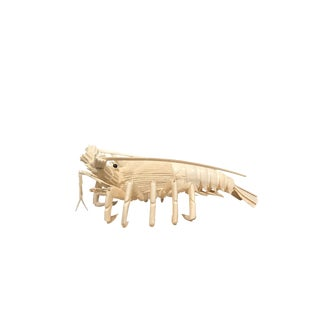 Carved Lobster Made of Bone For Sale