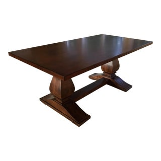 Traditional Restoration Hardware Trestle Table For Sale