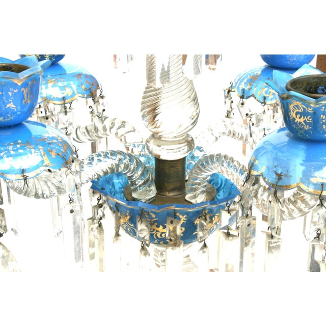 Pair of French Victorian Baccarat Crystal Candelabras For Sale - Image 10 of 12
