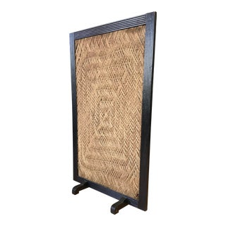 Vintage Free Standing Woven Rope Screen For Sale