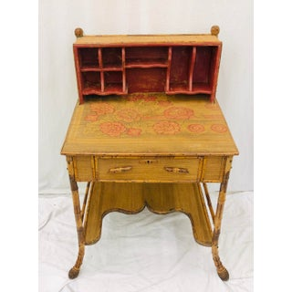 Antique Scorched Bamboo Desk Preview