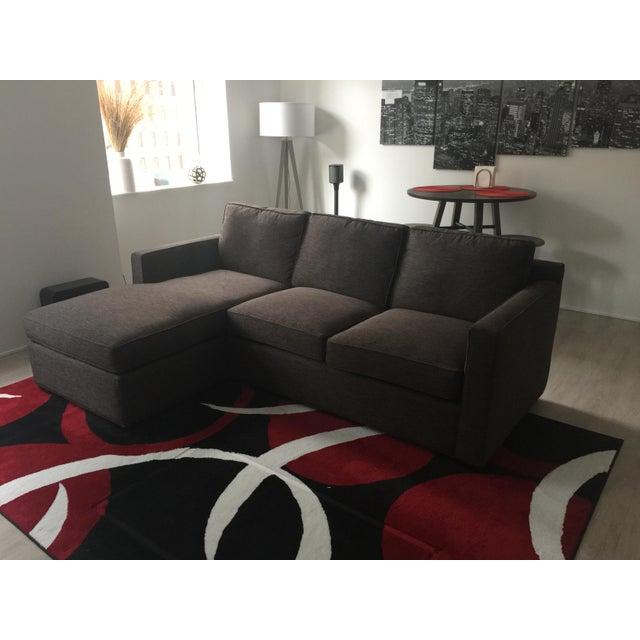 Pleasant Crate Barrel Charcoal Davis 3 Seat Sofa Inzonedesignstudio Interior Chair Design Inzonedesignstudiocom