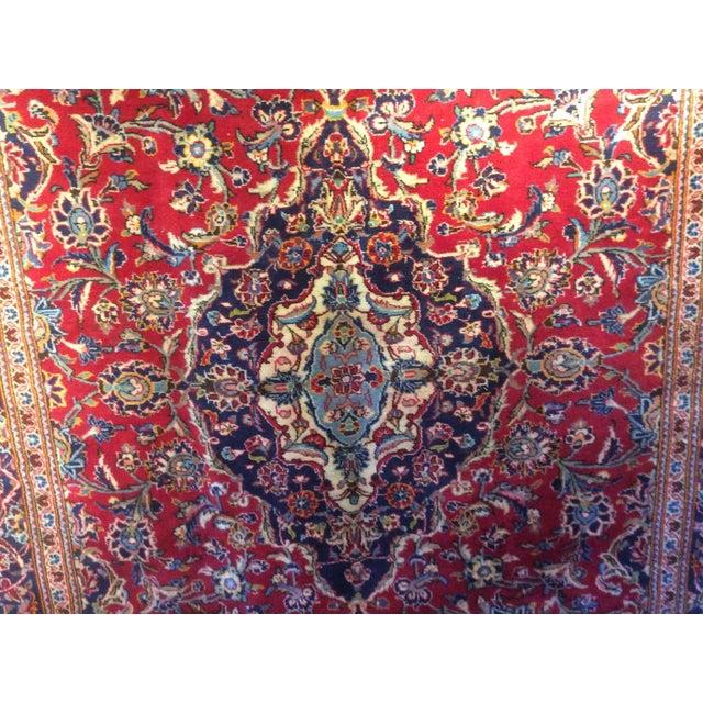 Vintage Oriental Kashan Hand Made Rug - 6′6″ × 9′8″ - Image 4 of 7