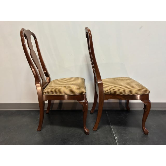 Queen Anne Solid Cherry Queen Anne Dining Side Chairs by Fancher - Pair 2 For Sale - Image 3 of 9