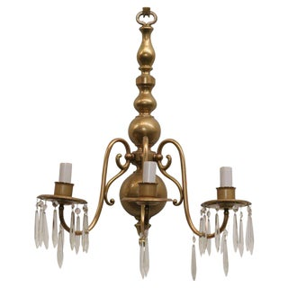 American Colonial Style Brass Wall Sconce For Sale