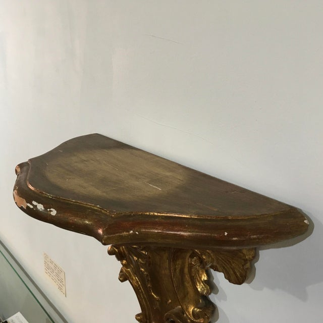 19th Century Rococo Gilt Wall Shelves - a Pair For Sale - Image 11 of 12