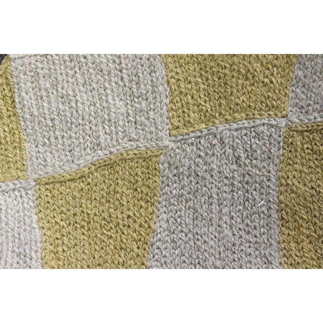 """1960s Cubist Hand-Stitched Wool 'Cubist' Rug -- 3' X 4'10"""" For Sale - Image 5 of 5"""