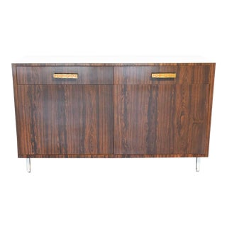 Mid-Century Modern White Laminate Top Sideboard For Sale