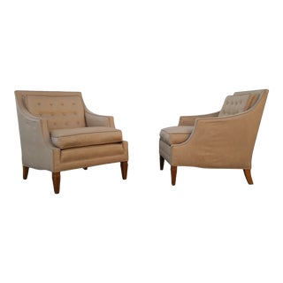 Baker Mid Century Modern Lounge Chairs - a Pair For Sale