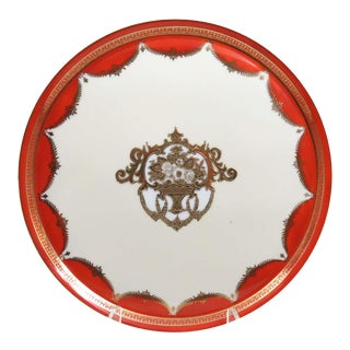 "Antique Noritake 12"" Hand Painted Torte Plate For Sale"