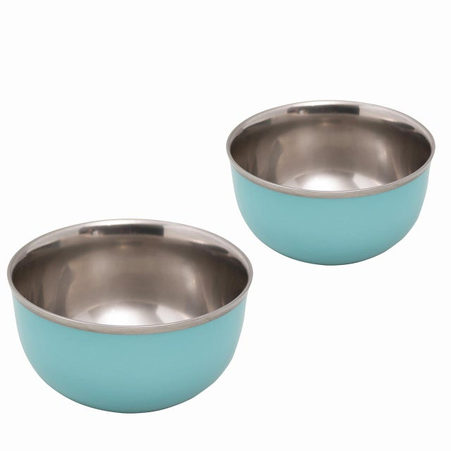 "Pair of ""Schubert"" Champagne Bowls Turquoise & Platinum by Augarten For Sale - Image 11 of 11"