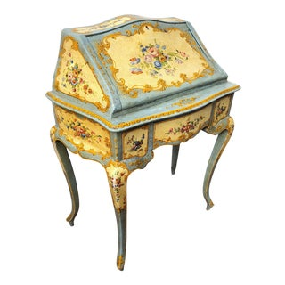 Italian Ladies Painted Desk For Sale