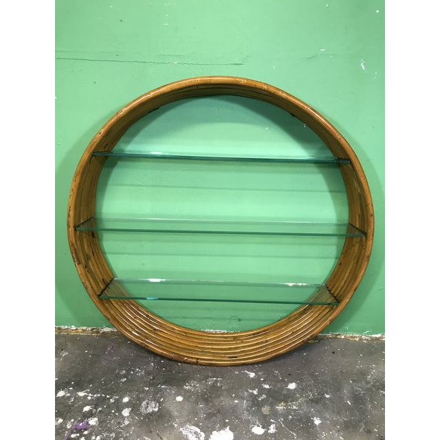 Vintage Mid-Century Paul Frankl Eight Strand Rattan Circular Wall Hanging For Sale - Image 11 of 12
