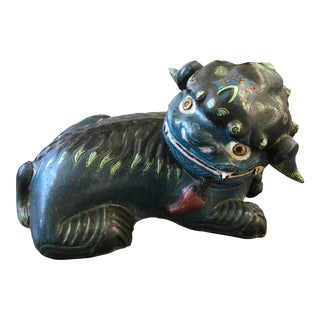 20th Century Chinese Cloisonné Foo Dog For Sale