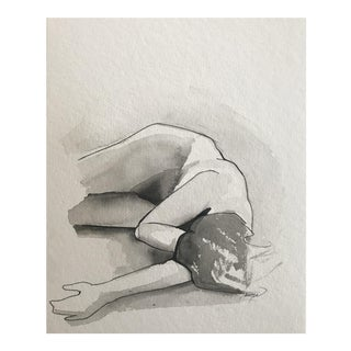 "Contemporary Watercolor ""Figure Painting I"" by Tawna Allred For Sale"