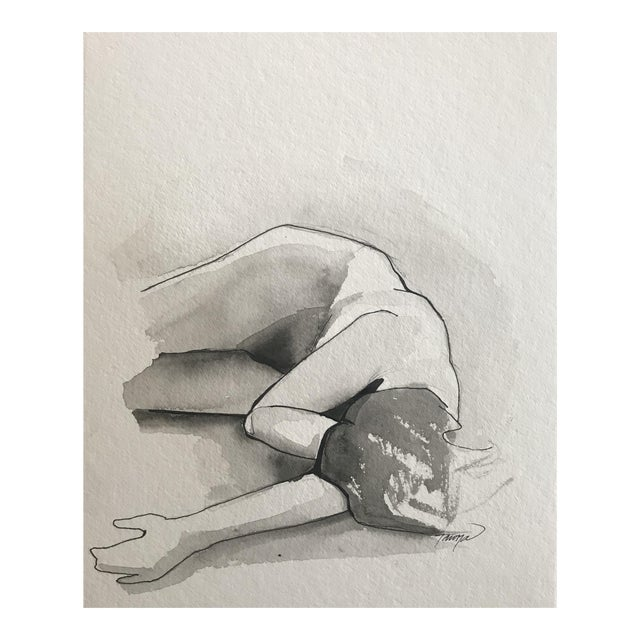 """Contemporary Watercolor """"Figure Painting I"""" by Tawna Allred For Sale"""