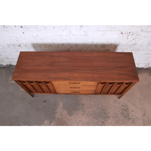 Brown Kent Coffey Perspecta Sculpted Walnut and Rosewood Credenza For Sale - Image 8 of 11