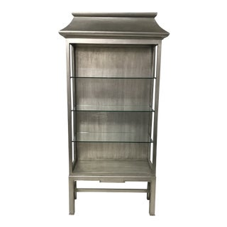 Contemporary Silver Pagoda Etagere For Sale