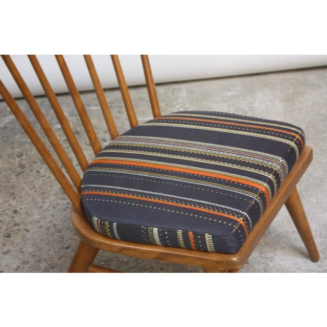 Pair of Conant Ball Spindle-Back Accent Chairs Attributed to Russel Wright - Image 6 of 10