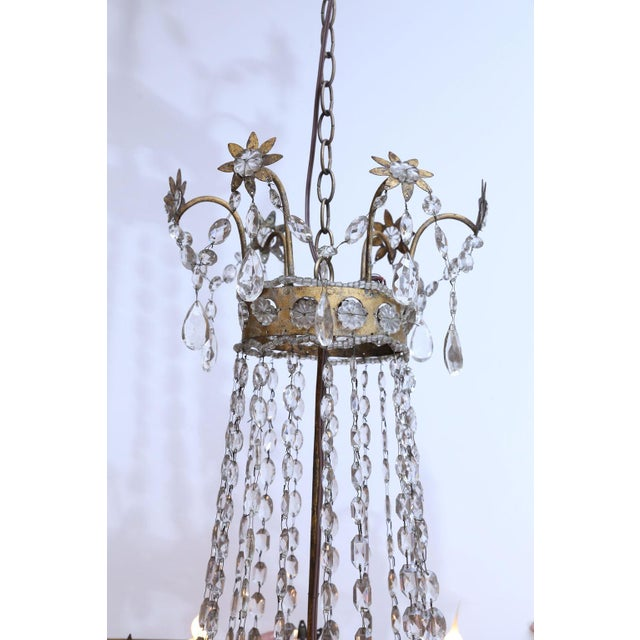 19th Century Neoclassical Gilt-Iron Chandelier For Sale - Image 10 of 13