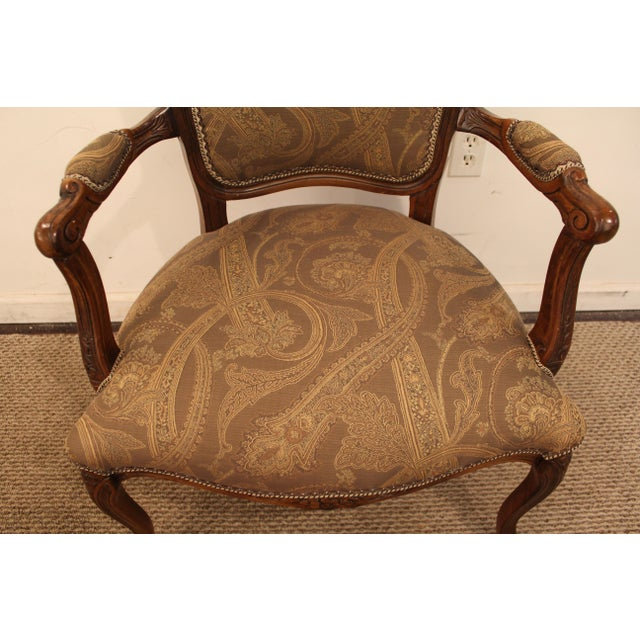 Vintage French Carved Ladies Fauteuil Arm Chair - Image 6 of 11