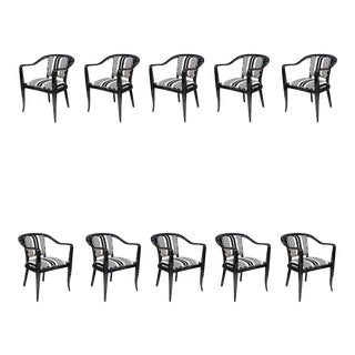 Set of Ten Ebonized Armchairs in the Style of Ed Wormley for Dunbar For Sale