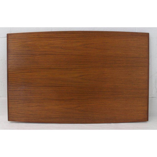 Lacquer Danish Modern Rectangular Boat Shape Refectory Dining Table For Sale - Image 7 of 8