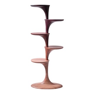 Ombre Purple Solid Ash Modular Shelf For Sale