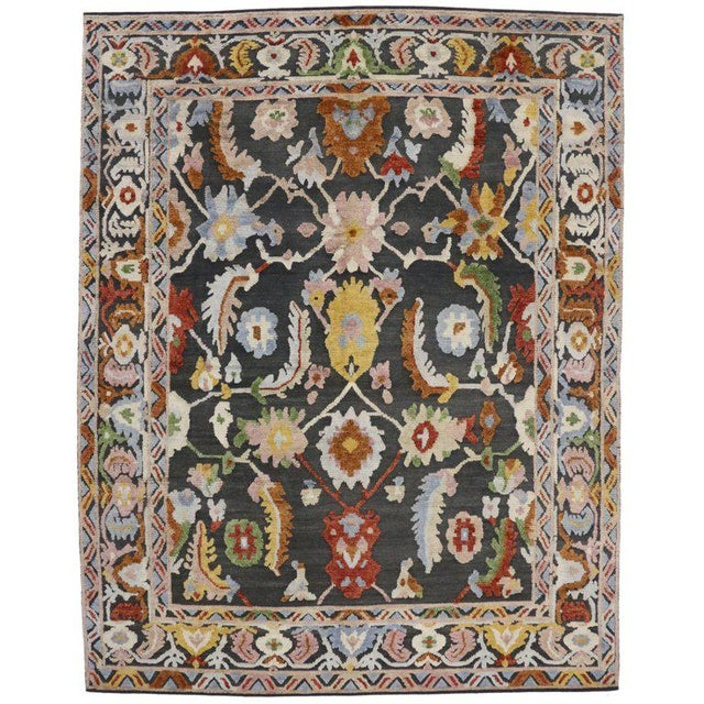 Textile Geometric Modern and Contemporary High-Low Area Rug - 10′9″ × 13′8″ For Sale - Image 7 of 7
