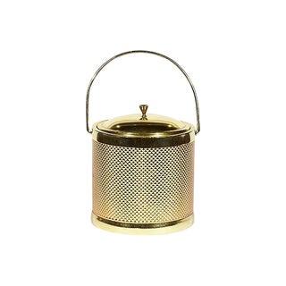 1960s Italian Gilt Textured Ice Bucket