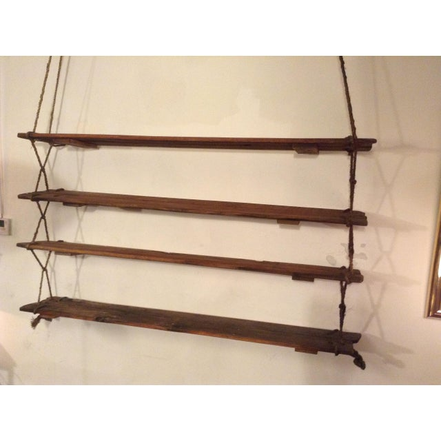 1950's Vintage American Craft Hanging Shelves For Sale In Los Angeles - Image 6 of 9