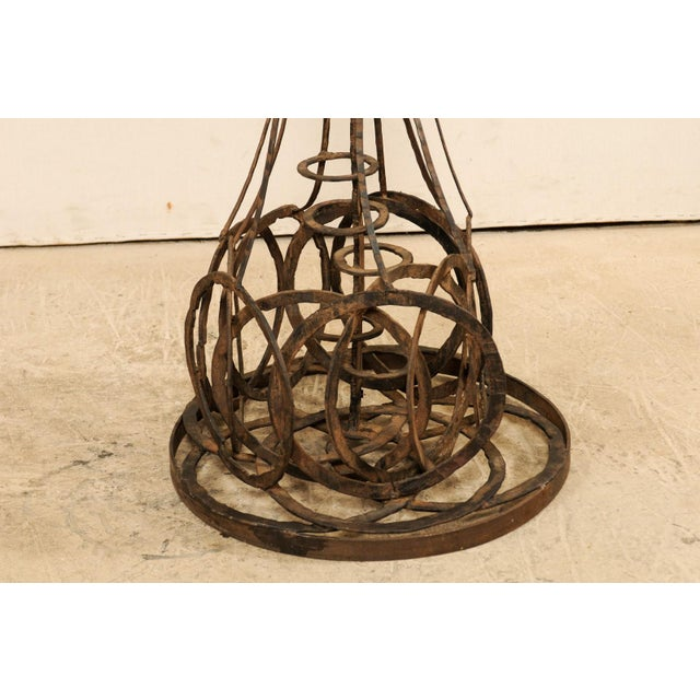 Art Deco Tall French Sculptural Iron Abstract Art Piece, Circa 1930s-1940s For Sale - Image 3 of 12