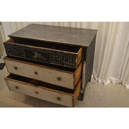Paint Antique Chest With New Paint (Black and White) From Spain For Sale - Image 7 of 13