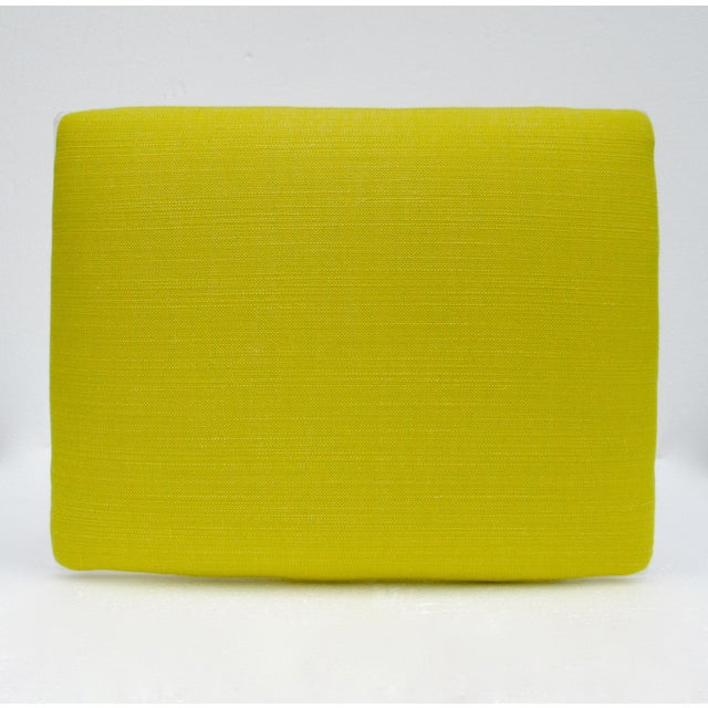 Vintage Mid-Century Lucite Bench With Sunbrella Indoor/Outdoor Textile For Sale - Image 11 of 13