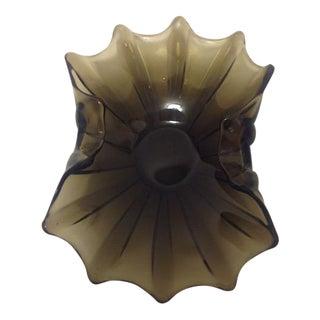 Italian Smoky Topaz Mid-Century Glass Dish