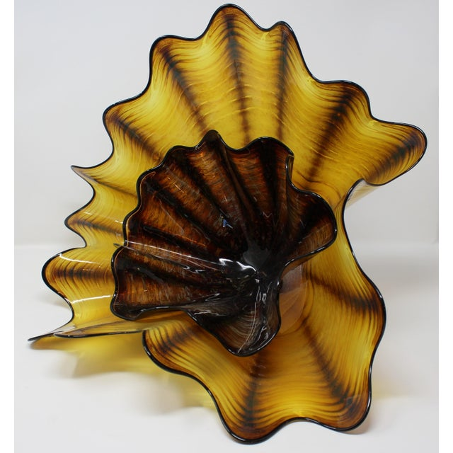 Contemporary Dale Chihuly Sea Form Art Piece For Sale - Image 3 of 5