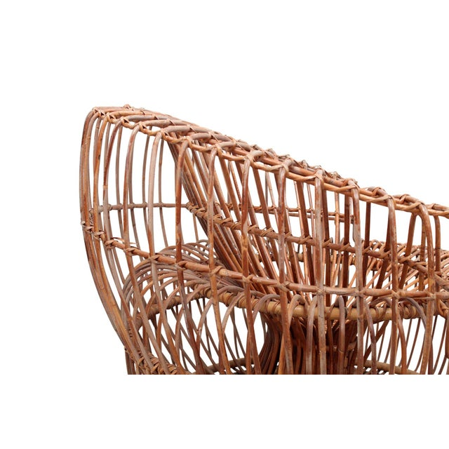 Franco Albini Bamboo Sculptural Lounge Chair For Sale - Image 9 of 13