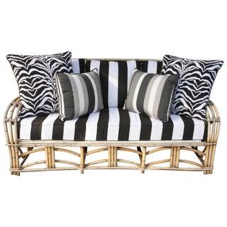 Vintage 1960s Bent Bamboo High Life Outdoor Sofa