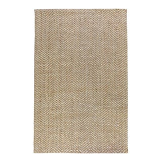 Zig Zag Natural/Bleach Rug - 9 X 12 For Sale