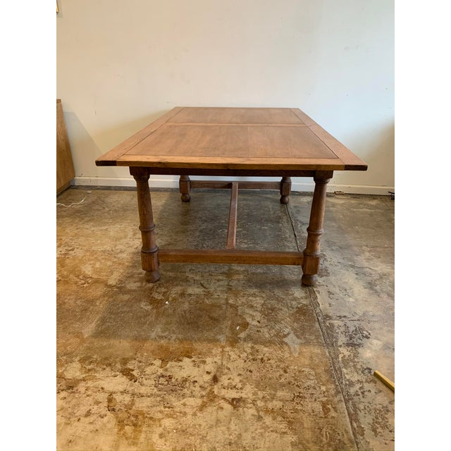 Tan Antique French Farm Dining Table For Sale - Image 8 of 9