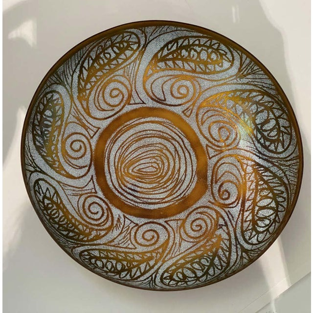 Brown Vintage Mid-Century Mossiadis Enamel Bowl For Sale - Image 8 of 12