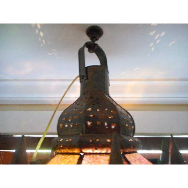 Vintage Moroccan Lighting Fixture For Sale - Image 5 of 9