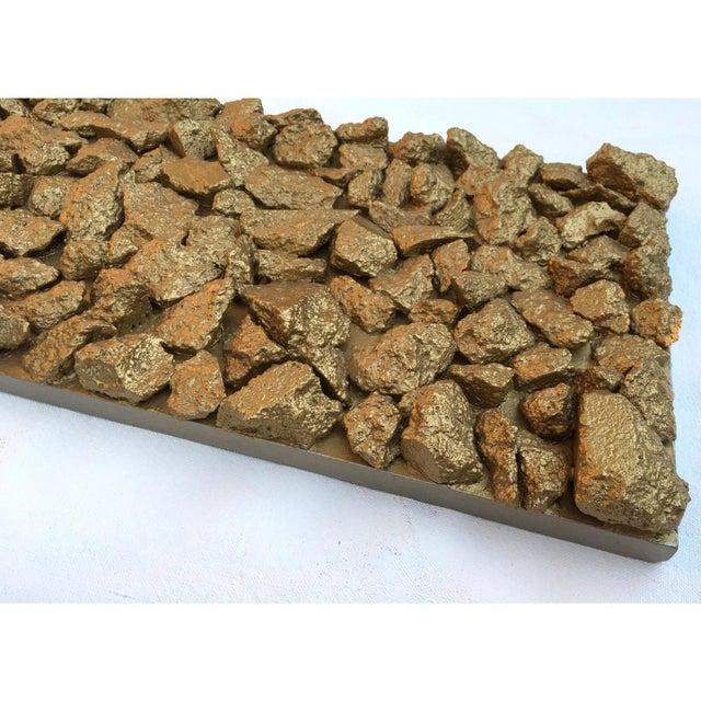 "Wood Suga Lane ""Gilt Optimiso"" Gold Concrete Rock Brutalist Inspired Sculpture For Sale - Image 7 of 11"
