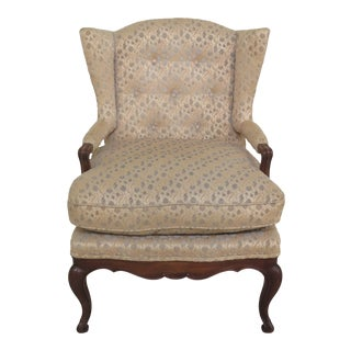 1970s Vintage John Widdicomb French Style Upholstered Arm Chair For Sale