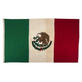 Vintage Mexico Cotton Flag For Sale