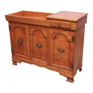 Cushman Colonial Vintage Solid Maple Dry Sink For Sale